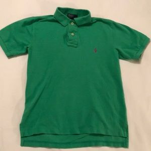 Green Polo w purple horse size 8